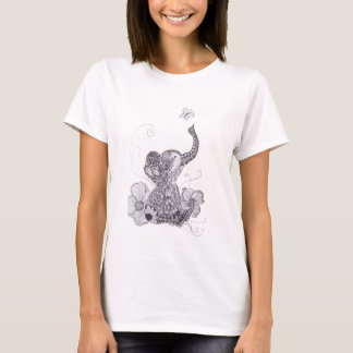 Elephant Butterfly T-Shirt