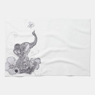 Elephant Butterfly Towel