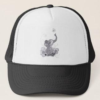 Elephant Butterfly Trucker Hat