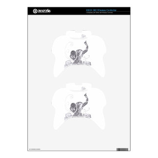 Elephant Butterfly Xbox 360 Controller Decal