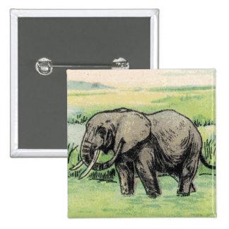 Elephant Pinback Buttons