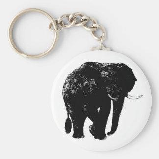 Elephant Button Keychain