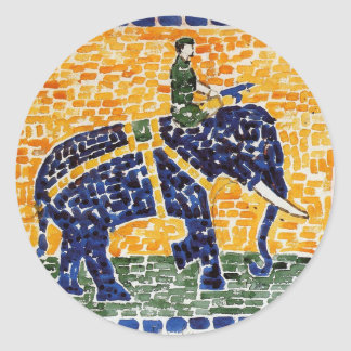Elephant by Maurice Prendergast Classic Round Sticker