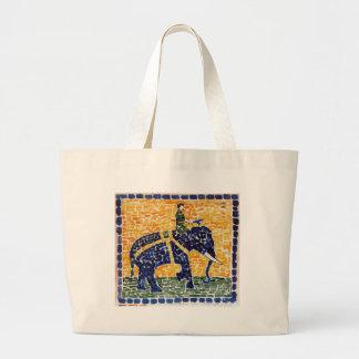 Elephant by Maurice Prendergast Large Tote Bag