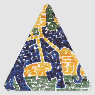 Elephant by Maurice Prendergast Triangle Sticker