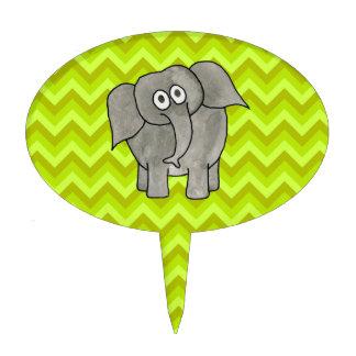 Elephant. Oval Cake Picks