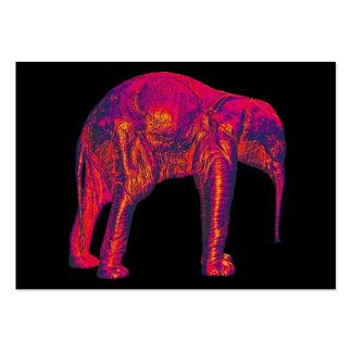 Elephant Calf, Red/Pink, Black Back Business Cards