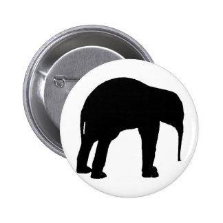 Elephant Calf Silhouette Buttons