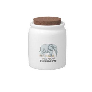 ELEPHANT CANDY JARS