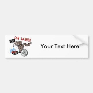 Elephant Car Washer - Funny New Invention Car Bumper Sticker