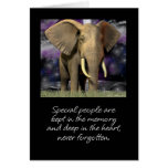 Elephant card blank never forget