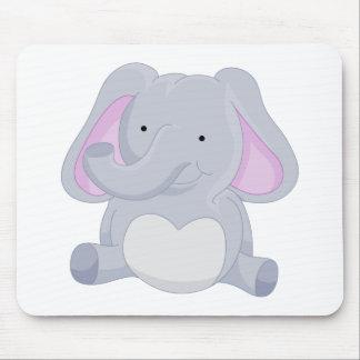 Elephant Cartoon Character Mouse Pad