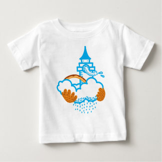 Elephant castle in the air baby T-Shirt