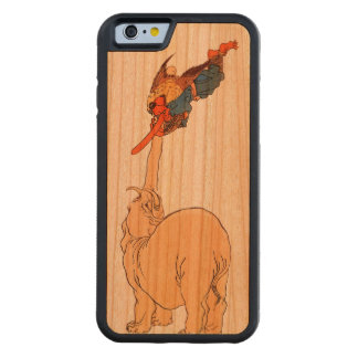 Elephant Catching a Flying Tengu Carved Cherry iPhone 6 Bumper Case