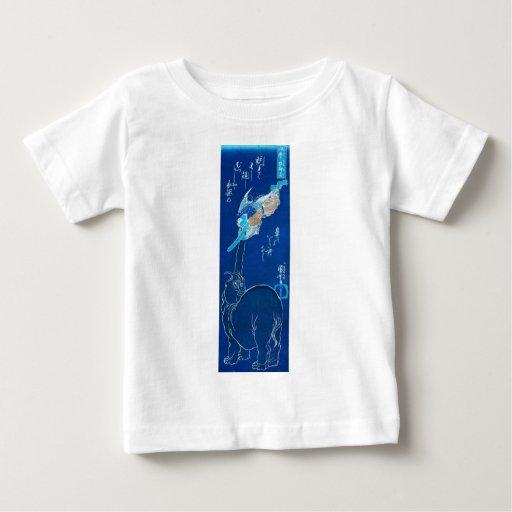 Elephant catching a flying Tengu. Circa 1800's T-shirt