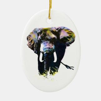 Elephant Ceramic Ornament