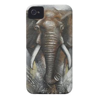 Elephant Charging iPhone 4 case