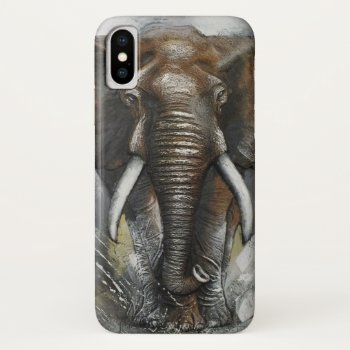 Elephant Charging iPhone X Case