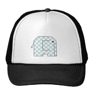 elephant check trucker hat