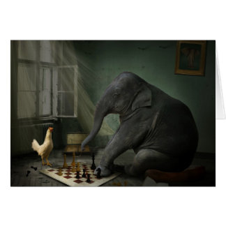 Elephant Chess Greeting Card