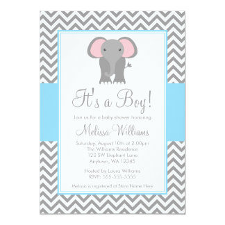 elephant baby shower invitations & announcements | zazzle, Baby shower invitations