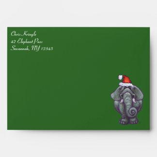 Elephant Christmas Envelope