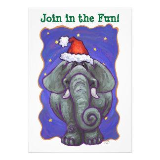 Elephant Christmas Personalized Invites