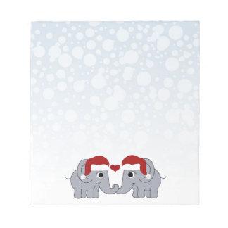 Elephant Christmas Notepad