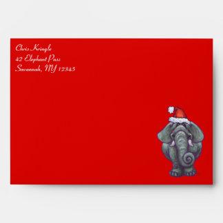 Elephant Christmas On Red Envelopes