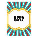 Elephant Circus Kids Boys Birthday Party RSVP Card