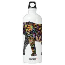 Elephant Colorful Aluminum Water Bottle