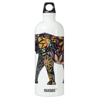 Elephant Colorful Aluminum Water Bottle