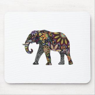 Elephant Colorful Mouse Pad