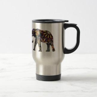 Elephant Colorful Travel Mug