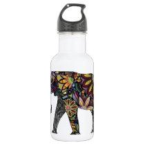 Elephant Colorful Water Bottle