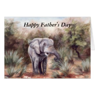 Elephant Coming Through Father's Day Card
