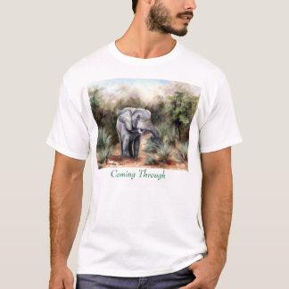 Elephant Coming Through Mens Tshirt