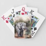 Elephant ComingTthrough Playing Cards