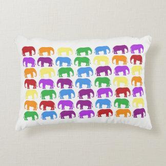 Elephant Congregation Accent Pillow