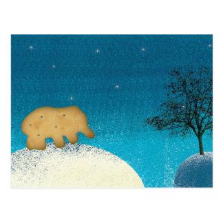 Elephant cookie postcard