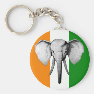 Elephant cote d ivore Ivory Coast gifts Basic Round Button Keychain