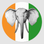 Elephant cote d ivore Ivory Coast gifts Classic Round Sticker