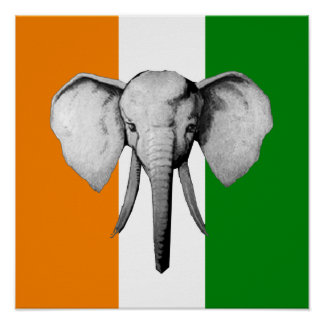 Elephant cote d ivore Ivory Coast gifts Poster