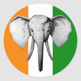 Elephant cote d ivore Ivory Coast gifts Sticker