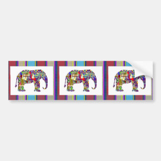 ELEPHANT Cow Animal Graphic Art Colorful USA GIFTS Bumper Sticker