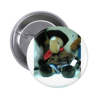 Elephant Coyboy Doll Products Pinback Button