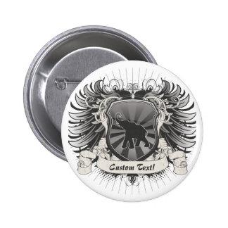 Elephant Crest Pinback Button