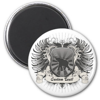 Elephant Crest Refrigerator Magnet