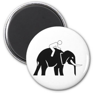 Elephant Crossing Magnet