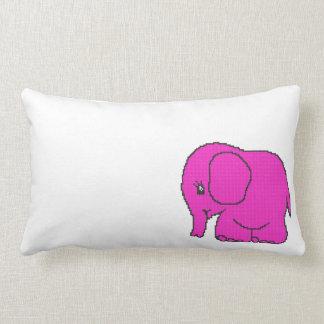 elephant_crossPINK.ai Lumbar Pillow